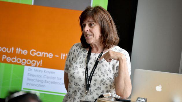 Dr. Mary Kayler at the Game Educators Summmit 2017