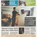 """Wants to crush the cliché"", frontpage of Gotlands Allehanda 2018-05-31"