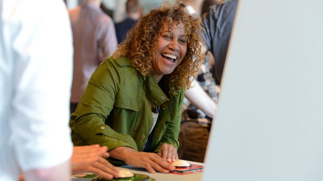 London-based artist Karen Palmer, on jury duty at the Gotland Game Conference 2015