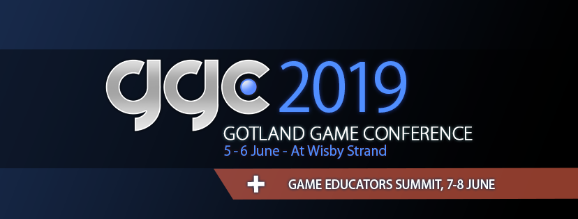 Gotland Game Conference 2019 is in June 5-6th, with the Educators Summit right after.