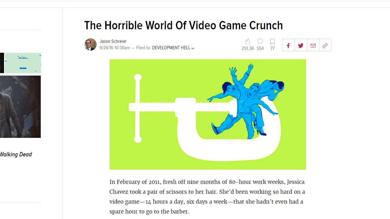 The Horrible World Of Video Game Crunch